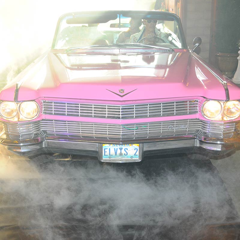 Viva Las Vegas Pink Caddy Wedding