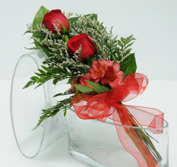 Two Rose Presentation - Red