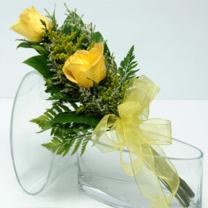 Two Rose Presentation - Yellow