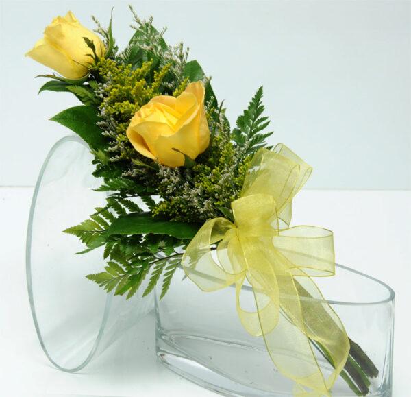 Two Rose Presentation - Yellow