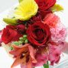 Three Rose Bouquet Garden - Red