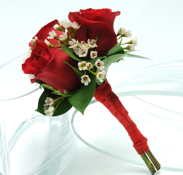 Three Rose Bouquet - Red